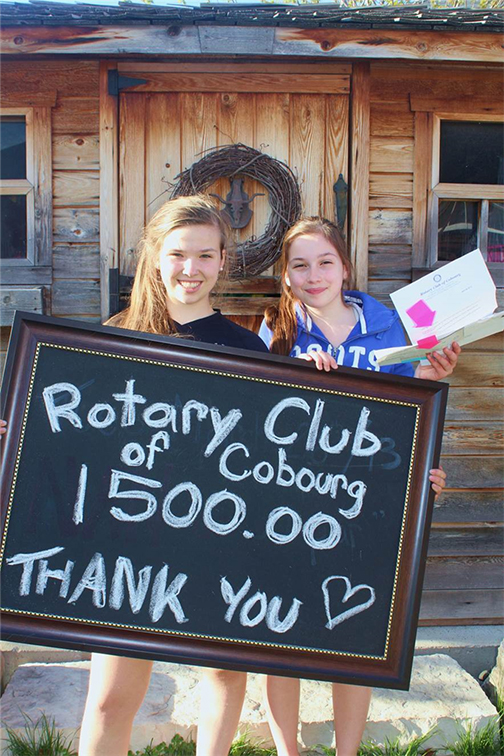 Rotary provides $1500 toward the Books with No Bounds Literacy initiative.