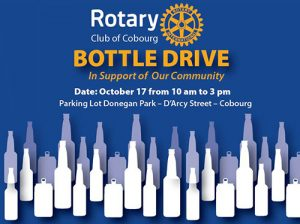 The Rotary Club of Cobourg Northumberland Bottle Drive